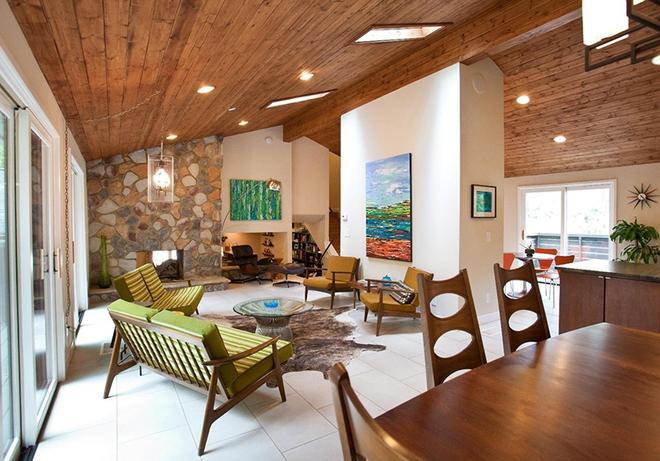Ngây ngất trước vẻ đẹp của những phòng khách mang phong cách midcentury hiện đại nhưng vô cùng ấm cúng - Ảnh 2.