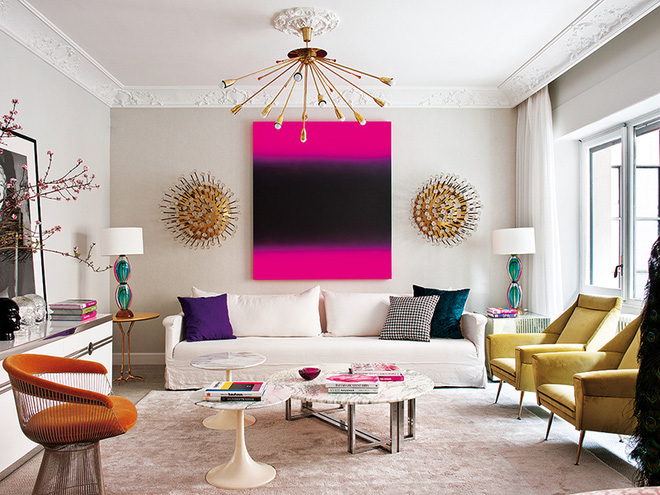 Ngây ngất trước vẻ đẹp của những phòng khách mang phong cách midcentury hiện đại nhưng vô cùng ấm cúng - Ảnh 5.