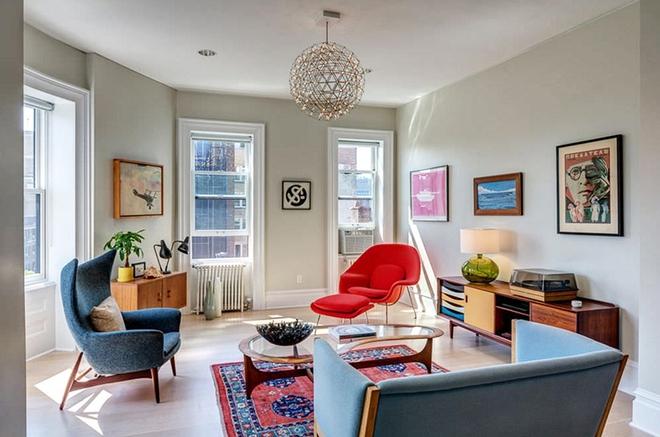 Ngây ngất trước vẻ đẹp của những phòng khách mang phong cách midcentury hiện đại nhưng vô cùng ấm cúng - Ảnh 9.