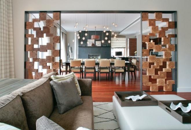 Sử dụng vách ngăn bằng đồ nội thất hoặc đồ trang trí đang là xu hướng mới để tạo không gian mở cho ngôi nhà - Ảnh 7.