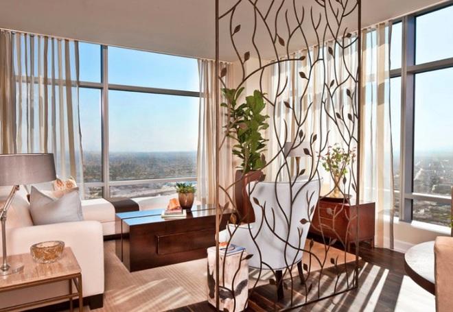 Sử dụng vách ngăn bằng đồ nội thất hoặc đồ trang trí đang là xu hướng mới để tạo không gian mở cho ngôi nhà - Ảnh 8.