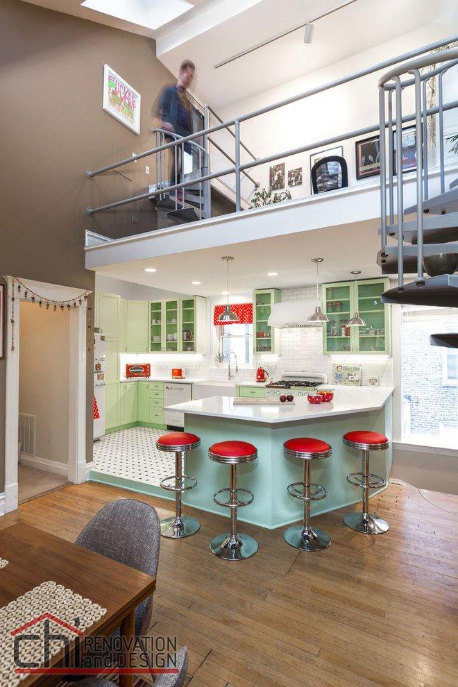 Người đàn ông cải tạo lại nhà bếp với màu xanh theo phong cách retro và cái kết khiến ai cũng bất ngờ - Ảnh 3.