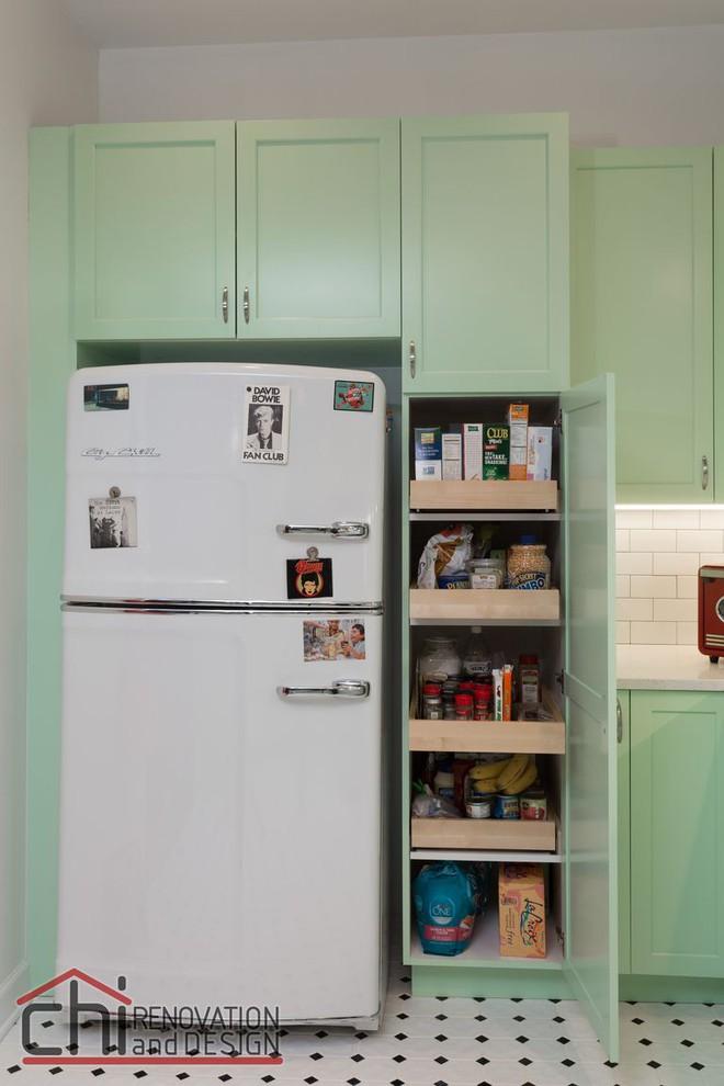 Người đàn ông cải tạo lại nhà bếp với màu xanh theo phong cách retro và cái kết khiến ai cũng bất ngờ - Ảnh 6.
