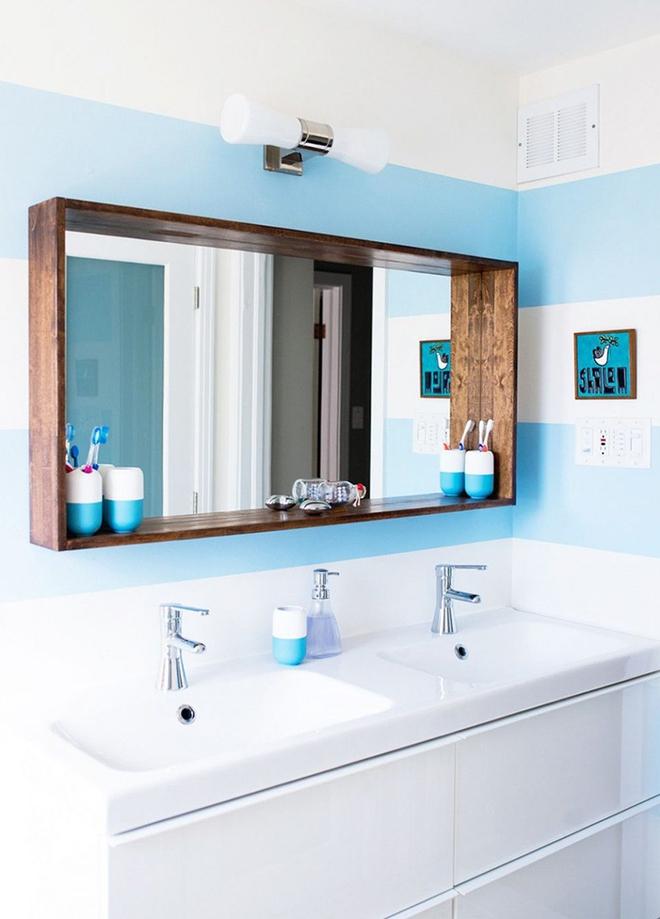Gợi ý chọn gương hợp với phòng tắm gia đình giữa vô số mẫu gương đẹp  - Ảnh 4.