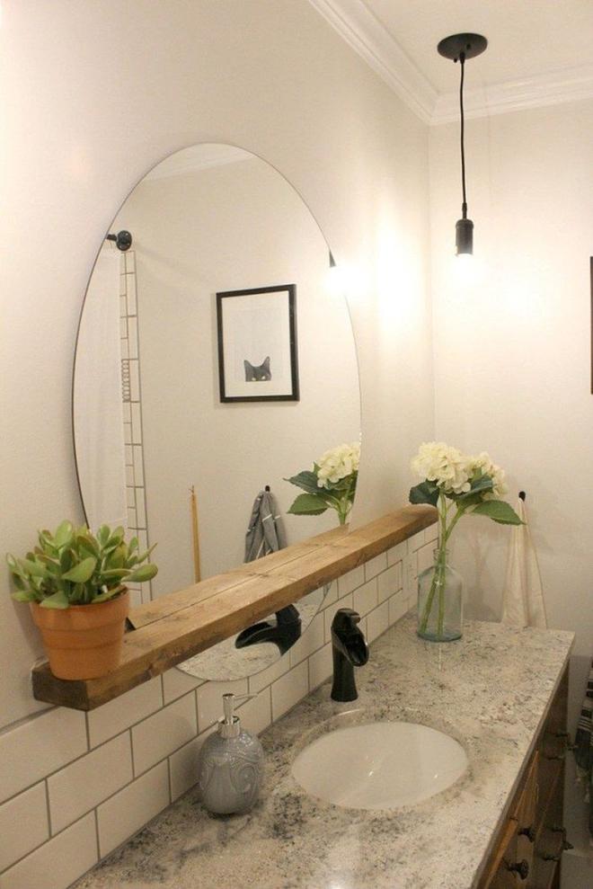 Gợi ý chọn gương hợp với phòng tắm gia đình giữa vô số mẫu gương đẹp  - Ảnh 20.