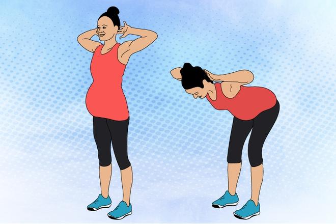 8 bài tập giúp mẹ bầu thư giãn và khỏe hơn trong suốt thai kì - Ảnh 4.