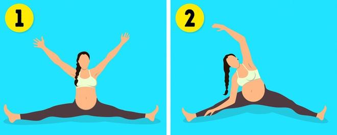 8 bài tập giúp mẹ bầu thư giãn và khỏe hơn trong suốt thai kì - Ảnh 6.