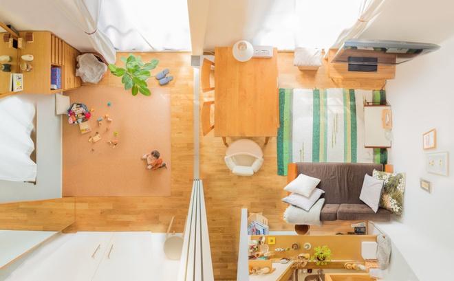 Gia đình 3 người ở Nhật sống thoải mái trong căn hộ siêu nhỏ nhờ cách bài trí thông minh - Ảnh 2.