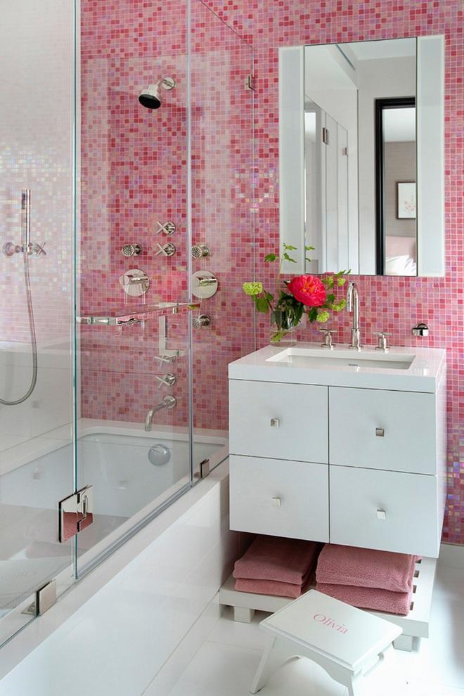 """Những """"pink girl"""" đã sẵn sàng biến phòng tắm của mình thành thiên đường ngọt ngào chưa? - Ảnh 9."""