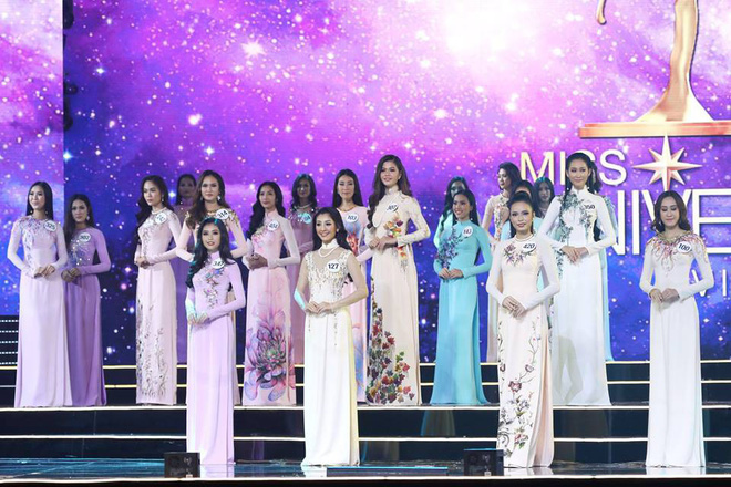 Áo dài đêm chung kết HHHV: Xem mà cứ ngỡ nhầm phải cuộc thi Hoa hậu nào năm xưa - Ảnh 1.