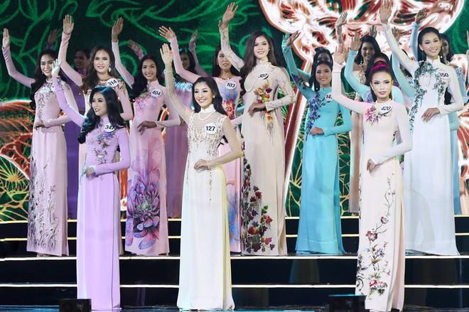 Áo dài đêm chung kết HHHV: Xem mà cứ ngỡ nhầm phải cuộc thi Hoa hậu nào năm xưa - Ảnh 2.