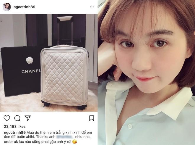 Có ai chịu chơi như Ngọc Trinh, sắm thêm vali Chanel cả trăm triệu dù đã có sẵn, chỉ khác màu - Ảnh 1.