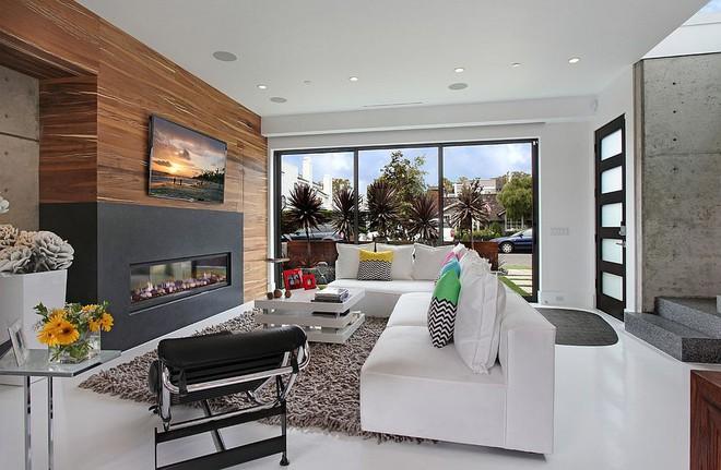 Độc đáo, lạ mắt lại vô cùng ấm áp ngay khi nhìn thấy: 10 phòng khách với thiết kế bức tường gỗ này sẽ chinh phục bạn - Ảnh 11.