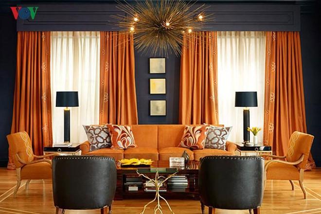 Không gian sống hiện đại với nội thất màu cam - Ảnh 3.