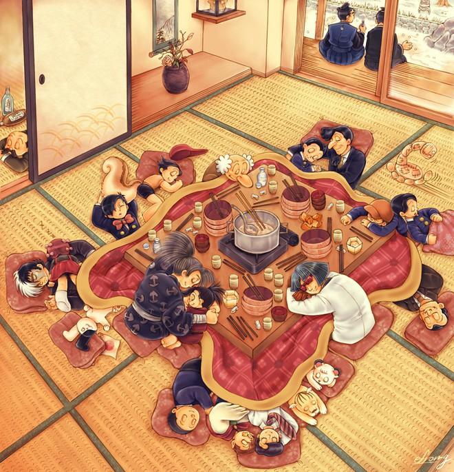 Bàn sưởi Kotatsu - phát minh tuyệt vời nhất của người Nhật - Ảnh 4.