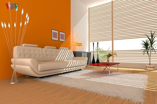 Không gian sống hiện đại với nội thất màu cam - Ảnh 4.