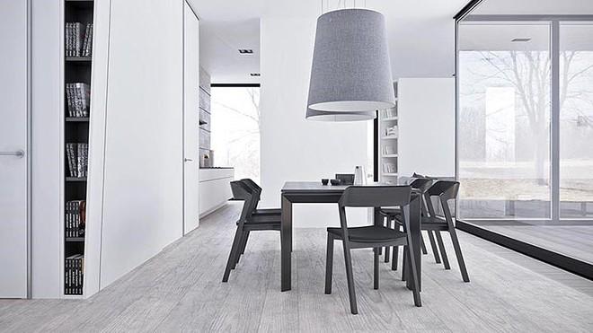 Thiết kế nội thất màu trắng và xám trong phong cách tối giản hiện đại - Ảnh 4.