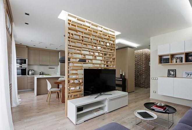 Độc đáo, lạ mắt lại vô cùng ấm áp ngay khi nhìn thấy: 10 phòng khách với thiết kế bức tường gỗ này sẽ chinh phục bạn - Ảnh 4.