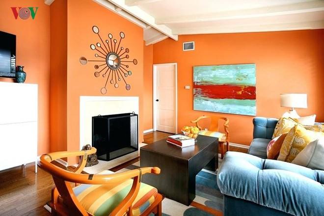Không gian sống hiện đại với nội thất màu cam - Ảnh 5.
