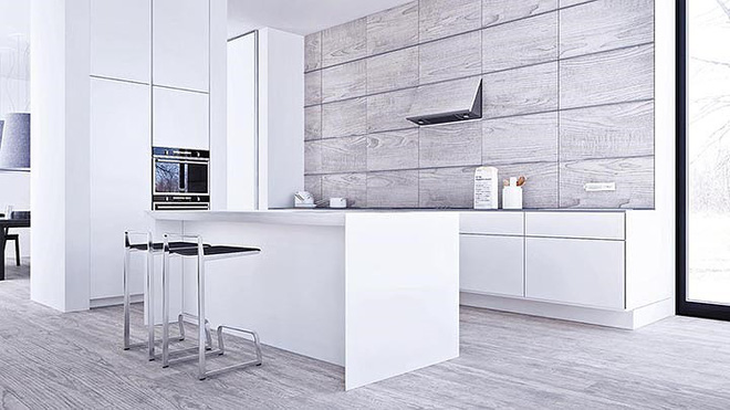 Thiết kế nội thất màu trắng và xám trong phong cách tối giản hiện đại - ảnh 5