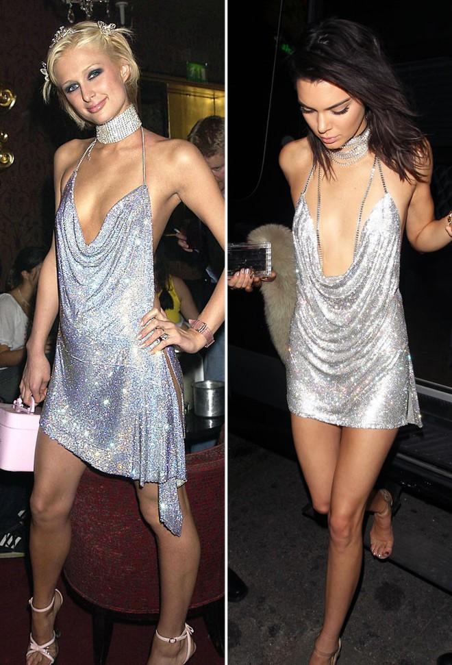 Minh Tú quá bạo, chẳng ngán mặc đầm xẻ hiểm hóc y chang Kendall Jenner lẫn Paris Hilton - Ảnh 4.