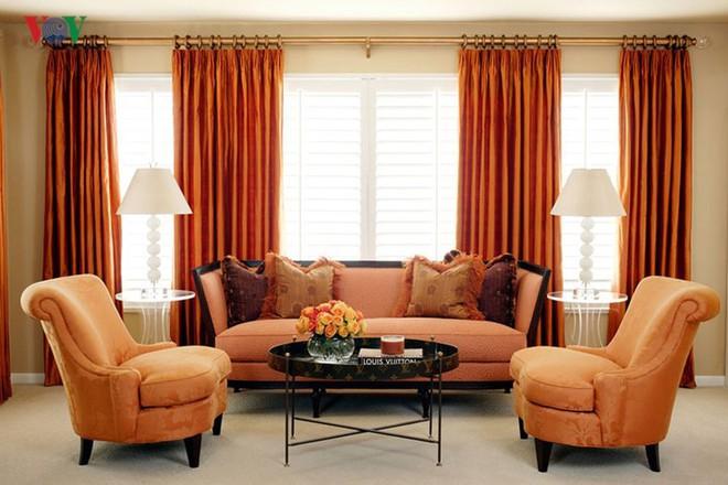 Không gian sống hiện đại với nội thất màu cam - Ảnh 6.