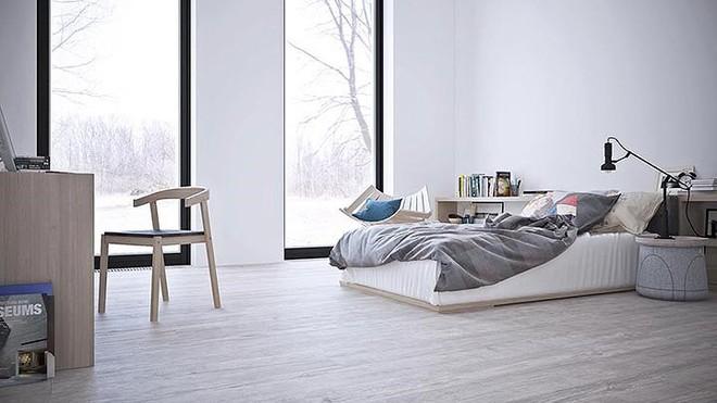 Thiết kế nội thất màu trắng và xám trong phong cách tối giản hiện đại - Ảnh 6.
