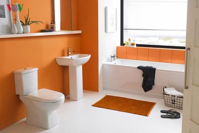 Không gian sống hiện đại với nội thất màu cam - Ảnh 8.