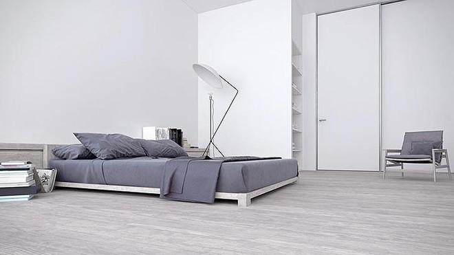 Thiết kế nội thất màu trắng và xám trong phong cách tối giản hiện đại - ảnh 8