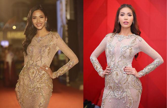 Kể từ khi đăng quang, từ Hoa hậu HHen Niê cho đến 2 Á hậu Hoàn vũ cứ mải miết dùng lại đồ cũ - Ảnh 8.