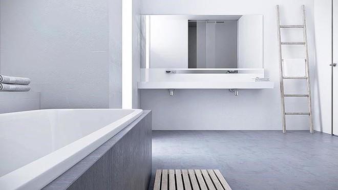 Thiết kế nội thất màu trắng và xám trong phong cách tối giản hiện đại - ảnh 9
