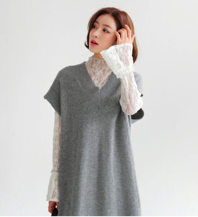 Thêm một cách diện layer áo len/áo nỉ cực xinh cho các nàng nữ tính - Ảnh 9.