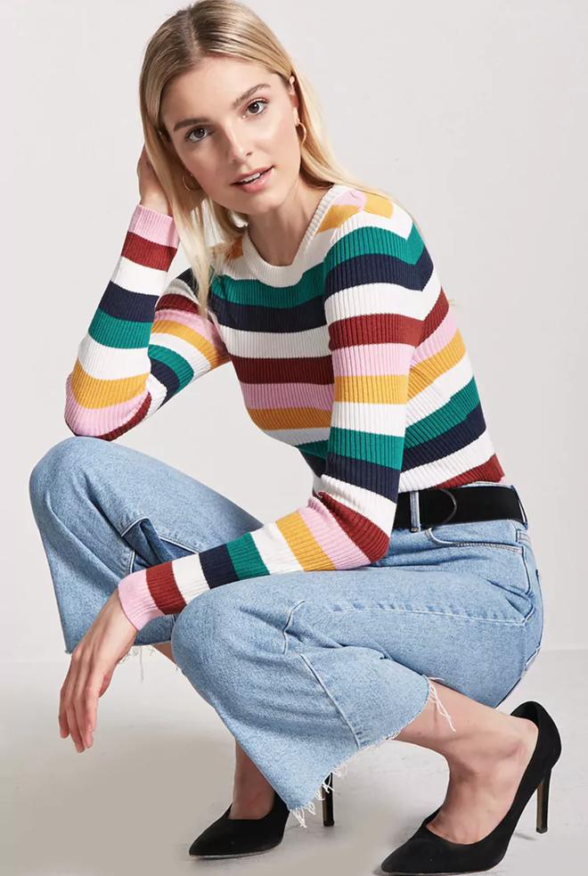 Khắp các thương hiệu thời trang, từ bình dân đến cao cấp đều đăng lăng xê kiểu áo len màu sắc này  - Ảnh 12.
