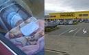 Hình ảnh gây phẫn nộ: Bé sơ sinh bị bỏ lại trong xe ô tô trong lúc chờ mẹ đi mua sắm