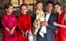 Chẳng riêng gì sao Việt, các nhóc tỳ nhà sao cũng xúng xính áo dài đón Xuân mới