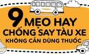 Bỏ túi ngay 9 mẹo chống say tàu xe mà không cần dùng thuốc cho mùa du lịch năm nay