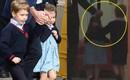 Tan chảy với hành động của Hoàng tử George dành cho em gái Charlotte khi vừa rời tay bố bước vào bệnh viện thăm em
