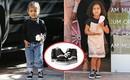 La liệt hàng hiệu xa xỉ, nhưng con gái Kim Kardashian chỉ trung thành với đôi giày phổ thông này