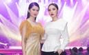 Á hậu Thùy Dung diện váy xuyên thấu đối lập Hoa hậu Kỳ Duyên