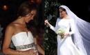 Váy cưới của Meghan Markle trong hôn lễ với người chồng đầu và váy cưới hiện tại: cả một sự