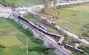 Hiện trường vụ tai nạn tàu hỏa đâm xe tải, khiến 10 người thương vong ở Thanh Hóa