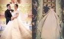 """Đám cưới hơn cả hoàng gia, chú rể """"dệt"""" váy cưới tặng cô dâu bằng... kim cương """"nhà trồng được"""""""