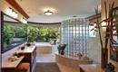 Gạch thủy tinh - ý tưởng mới cho phòng tắm hiện đại