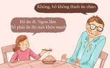 Tranh vui: Khi bố mẹ trở thành con, đi chơi về muộn, lười ăn, ngồi lì xem TV...