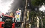 Hà Nội: Cháy lớn tại quán Karaoke ở Khu đô thị Linh Đàm, nhiều người hoảng loạn