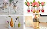 4 cách tái chế chai lọ làm bình hoa trang trí nhà tinh tế