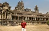 Nguyên Khang thích thú du lịch bụi, lê la vỉa hè ở Campuchia