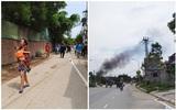 Hà Nội: Cháy lớn trong kho nhựa ở khu làng nghề Triều Khúc