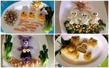 Học lỏm mẹ Việt cách trang trí món ăn dặm cho con đầy màu sắc