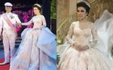 Cô dâu bỗng nổi tiếng thế giới vì mặc váy cưới 11 tỷ đồng, đeo vương miện vàng trong đám cưới cổ tích